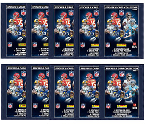 Panini NFL 2021/2022 Sticker & Card Collection - 10 PACKETS Of Stickers/Cards
