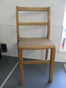 Vintage Victorian? Edwardian? Child's Oak? Chair Display Dolls Bears 65cms