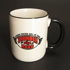 Georgia Racing Hall of Fame Coffee Mug Thunder Road Cup White Black Red Ceramic