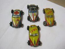 Tin Litho Toy Little Cars Taxi Ambulance Police Car Japan Vintage    T*
