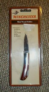Winchester Mini Wood folder knife, stainless steel, clip point blade & bolster