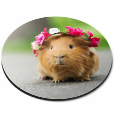 Round Mouse Mat - Funny Ginger Guinea Pig Rodent Office Gift #24492