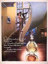 Chamade Perfume by Guerlain PRINT AD -- 1980