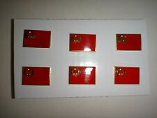 Lot Of 6 CONGO FLAG Tie Pins Lapel Pins + Clutchback Catches *Great GIFT*