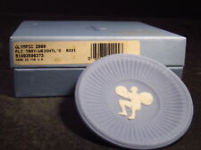 "Wedgwood Jasperware Blue OLYMPIC AUSTRALIA 2000 3"" PIN TRAY Weight Lifting"