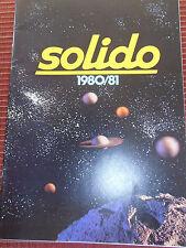 CATALOGUE JOUET SOLIDO ANNÉE 1980  (ref 40 )