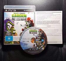 Plants vs Zombies Garden Warfare (Sony PlayStation 3, 2014) PS3 - FREE POSTAGE