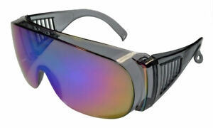 Fit-Over Sun Glasses Mirror IS3001CM Crystal-Grey/Blue-Revo Extra Large XL