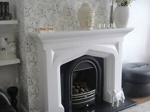F11 Tudor Fire Surround in Plaster - BIRMINGHAM COLLECTION ONLY