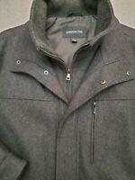 London Fog Fall Jacket Men's Size Large Wool Blend Double Zip Stylish NWOT