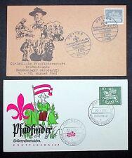 Pfadfinder Sondermarke Erstausgabebrief Berlin Detter Bonn FDC Boy Scout (I-4592