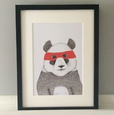 Ninja Panda Ilustración. impresión de arte. edición Limitada