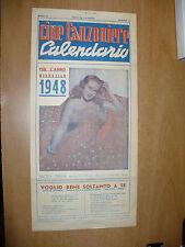 CALENDARIO CINE CANZONIERE ANNO BISESTILE 1948 ANGELA GREENE ERNESTO CIOTTI