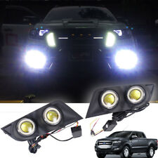 15-16 Fit Ford Ranger T6 Facelift Matt Black Cover Super Led Fog Lamp Spot Light