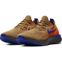 Nike Epic React Flyknit Golden Beige Blue AV8068-200 Running Shoes Men's NEW