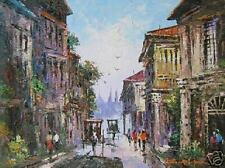 Old Vigan 18x24 Art Philippines Oil Painting