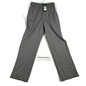 Under Armour Mens UA Vital Warm-Up Pants Heat Gear Gray Small 1239481-040