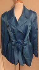NWOT Harve Benard Blue Fully Lined Polyester Blend Rain Jacket Sz XL