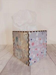 Tissue Box Cover Made W/ Voyage Maison Alisia Fabric Cube Square