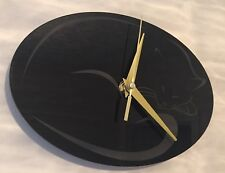 Sleeping Cat Wall Clock In Black 45cm X 30cm
