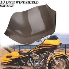 """Smoke 13"""" Wave Windshield Wind Screen For Harley Road Glide FLTR FLTRX 1996-2013"""
