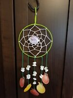 Shell Dream Catcher Wall Hanging. Coastal, Rustic or Western Decoration