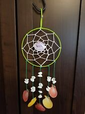 Shell Dream Catcher Wall Hanging, Indian Style.  Coastal or Tribal Decoration