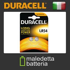 2X Batteria LR54 DURACELL a Bottone 189 LR1131 AG10 V10GA LR1130