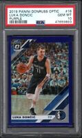2019 Panini Donruss Optic Purple #16 Luka Doncic Dallas Mavericks PSA 10 GEM MT