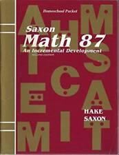 Saxon Math 87: An Incremental Development Homeschool Packet - Paperback - GOOD