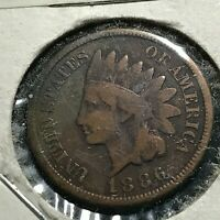 1886 VARIETY II INDIAN HEAD CENT NICE COIN