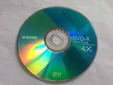 Ritek 4Speed DVD-R Blank Disc 4.7GB Recordable Media120min DVDR DVD-01