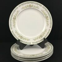 Set of 4 VTG Dinner Plates Roseville Japan Translucent Fine China 4135 Floral