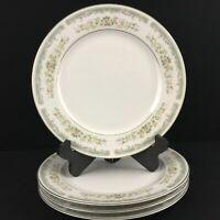 Set of 4 VTG Dinner Plates Roseville Japan Translucent Fine China 4135 Floral