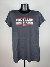 Women's Adidas Portland Trail Blazers Black Graphic Logo SS Tee 2XL NWT