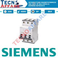 Interruttore Magnetotermico D20 20A 400V 6kA 3Poli Curva D Siemens 5SY6320-8