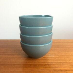 "4 Calvin Klein Khaki Collection Cargo Aqua Speckled 5 1/4"" Rice Dessert Bowls"