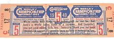 Vintage 1949 Worlds Championship Cardinal Baseball ticket Collector
