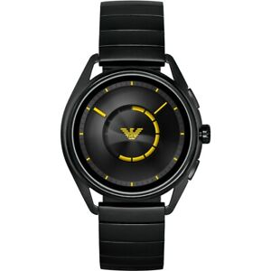 EMPORIO ARMANI CONNECTED SMARTWATCH ART5007 GOOGLE WEAR OS BLACK STAINLESS BAND