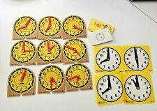 JUDY INSTRUCTO Set 9 ORIGINAL MINI-CLOCKS 🕰 Wood & 4 Plastic learning resources