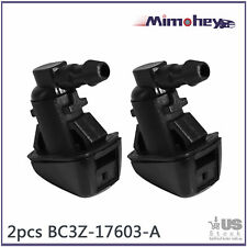 2PC Fits For Ford F250 F350 Windshield Wiper Water Spray Washer Nozzle 2011-2016