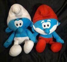 """18"""" Papa Smurf Plush & Clumsy Papa Smurf Plush  FREE SHIPPING"""