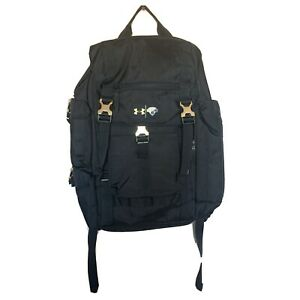 Under Armour Range Backpack Black Gold Hardware NBA Top 100 Camp