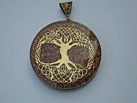 "Orgone Chakra Healing 2"" Pendant 7 Chakra Stones Necklace Pendant Tree of Life"