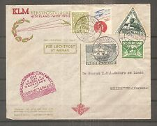 LETTRE NETHERLANDS NEDERLAND TO CURACAO LUCHTPOST BY ARMAIL 1934 WEST INDIE