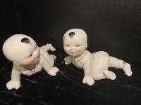 Vintage Ceramic Chinese Babies Crawling Sculpture
