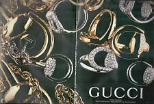 ▬► PUBLICITE ADVERTISING AD GUCCI 2 pages HORSEBIT Collection Bijoux 2006