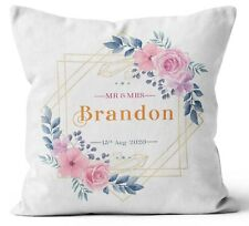 Personalised Any Text Name Cushion Floral Design Mothers Day Wedding Gift 88