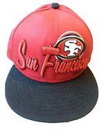 SAN FRANCISCO 49ERS 9FIFTY SNAPBACK HAT CAP NFL New Era RED black Med/LG