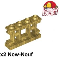 Lego - 2x Fence barrière 1x4x2 Asian chinoise chinois or pearl gold 32932 NEUF